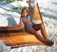 Small and Medium size hammock from Mexico in fine cotton net. No. 3