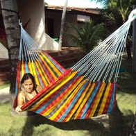 Checked Fabric Hammock for 1 person