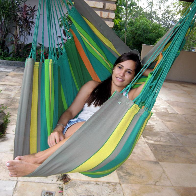 Hammock chair in PRO fabric for outdoor use.