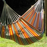 Formosa light striped fabric hammock in cotton