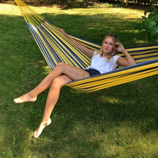 Guatemala Fabric hammock for 1-2 person in warm golden colors