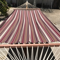 Mocca Hammock in Outdoor fabric with 120 cm wooden spreader bars PRO. No. TTQp558