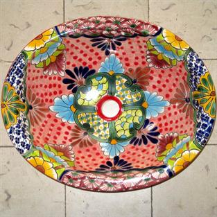 Sevilla Pink Mexican Dishes With Motifs