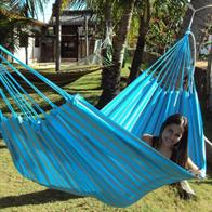 Outdoor Turquoise Green Striped Fabric Hammock PRO