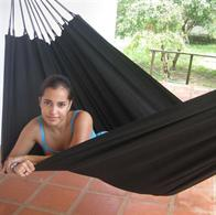 Outdoor Black Fabric Hammock PRO 1 persons