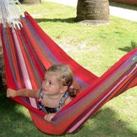 Bambino hammock in retro red shades. Little Mini hammock
