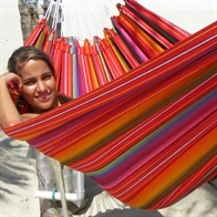 Popular rainbow colored hammock. No. C160.0r