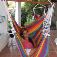 Hammock chair in charming colorful stripes