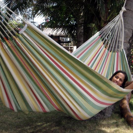 Striped retro hammock