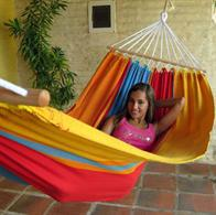 Summer hammock with wooden spreader bars. No. T292-80